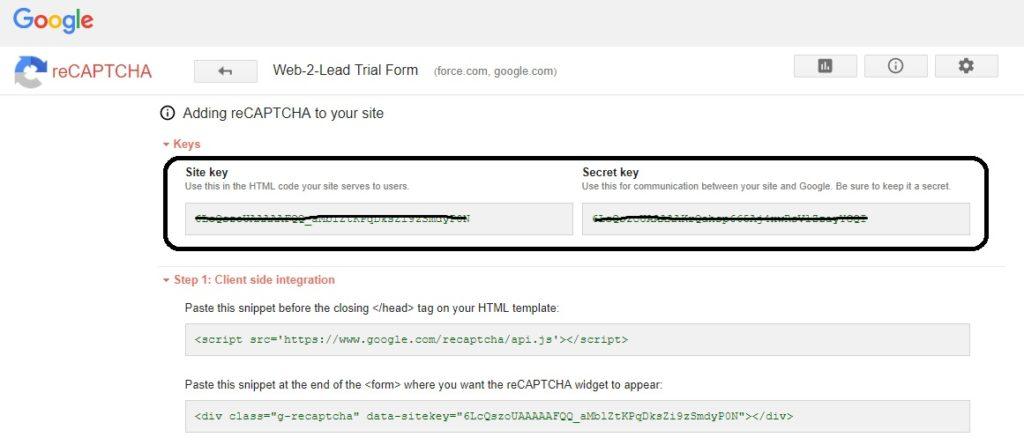 Embedding Google reCAPTCHA v2 in Salesforce Lightning